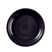 2750-19 Πιάτο πλαστικό στρογγυλό PP 22cm μαύρο
