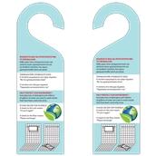 KAR-T-1 Καρτέλα Πλαστικοποιημένη 2 όψεων - Χρήση Πετσετών για Αλλαγή