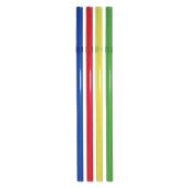 K.855/FS201012 1000 Καλαμάκια Σπαστά, JUMBO, Φ7x240 mm, Διάφορα Χρώματα