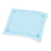 1100821303 Χάρτινο Τραπεζομάντηλο Εστιατορίου, 100x130 cm, 3φυλλο, μπλε σχέδιο ναυτικό, ENDLESS