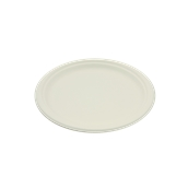 PUL2001 Πιάτο Ρήχο Στρογγυλό Φ18cm, από ζαχαροκάλαμο, Μίας Χρήσης, Εκρού, Sabert