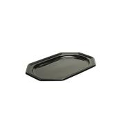 BLA9315-50 Δίσκος πλαστικός παρουσίασης 27x19cm Οκταγωνικός, Μίας Χρήσης, PET, Μαύρος, Sabert