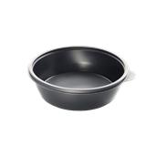 HOT77132 Δοχείο Τροφίμων Στρογγυλό 1000ml, Φ19x5cm, PP, Μαύρο, Μίας Χρήσης, Sabert