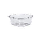 BOW14012TR1000 Δοχείο τροφίμων ασφαλείας 375ml, 12x12x4cm, PET (χωρίς καπάκι), Sabert