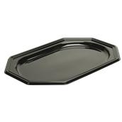 BLA9385-50 Δίσκος πλαστικός παρουσίασης 55x38cm Οκταγωνικός, Μίας Χρήσης, PET, Μαύρος, Sabert