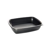 HOT78130 Δοχείο Τροφίμων Ορθογώνιο 900ml, 23x16x5cm, PP, Μαύρο, Μίας Χρήσης, Sabert