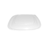 HOT52671 Καπάκι Τετράγωνo για Δοχεία μιας χρήσης, 16x16x1cm, PP, Διάφανο, Sabert