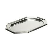 SIL00365-50 Δίσκος πλαστικός παρουσίασης 46x30cm, Οκταγωνικός, Ασημί, PET, Μίας Χρήσης, Sabert