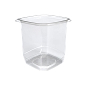 BOW14032TR500 Δοχείο τροφίμων ασφαλείας 1000ml, 12x12x13cm, PET (χωρίς καπάκι), Sabert