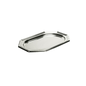 SIL00315-50 Δίσκος πλαστικός παρουσίασης 27x19cm Οκταγωνικός, Ασημί, PET, Μίας Χρήσης, Sabert