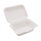 PUL2019 Δοχείο Τροφίμων Με Καπάκι 600ml, 18x12x7cm, από ζαχαροκάλαμο, Εκρού, Sabert