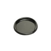 ROM9709 Πιάτο Ρηχό Στρογγυλό Φ23x2cm, Μαύρο, PET, Μίας Χρήσης, Sabert