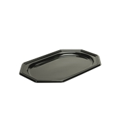 BLA9345-50 Δίσκος πλαστικός παρουσίασης 36x24cm Οκταγωνικός, Μίας Χρήσης, PET, Μαύρος, Sabert