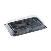 COMC9463025CN Δίσκος πλαστικός με Καπάκι διάφανες, 46x30cm, Μίας Χρήσης, PET, Ορθογώνιο, Sabert