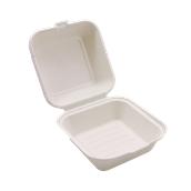 PUL2014 Δοχείο Τροφίμων Με Καπάκι 800ml, 15x15x8cm, από ζαχαροκάλαμο, Εκρού, Sabert