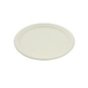 PUL2002 Πιάτο Ρήχο Στρογγυλό Βιοδιασπώμενο Φ23cm, από ζαχαροκάλαμο, Μίας Χρήσης, Εκρού, Sabert