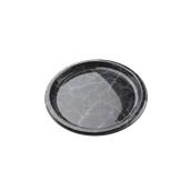 ROM8701 Πιάτο Ρηχό Στρογγυλό Φ26x2cm, PET, Μίας Χρήσης, Χρώμα μαύρου μαρμάρου με μπλε νερά, Sabert