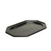 BLA9365-50 Δίσκος πλαστικός παρουσίασης 46x30cm, Οκταγωνικός, Μίας Χρήσης, PET, Μαύρος, Sabert