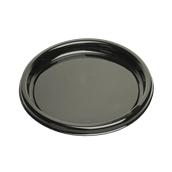 BLA00916-50 Δίσκος πλαστικός παρουσίασης Φ40cm Στρογγυλός, Μίας Χρήσης, PET, Μαύρος, Sabert