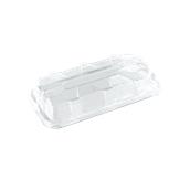 DOM52307-50 Καπάκι Διάφανο Ορθoγώνιο 35x16x8cm, PET, Μίας Χρήσης, Sabert