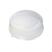 DOM05500-50 Καπάκι Διάφανο Στρογγυλό Φ34x8cm, PET, Μίας Χρήσης, Sabert