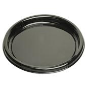 BLA00918-50 Δίσκος πλαστικός παρουσίασης Φ46cm Στρογγυλός, Μίας Χρήσης, PET, Μαύρος, Sabert