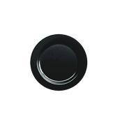 INJPLBK1520C10 Πιάτο Ρηχό Στρογγυλό, Φ15cm, Μαύρο, PS, Μίας Χρήσης, Σειρά mozaik, Sabert