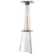 SOLFLAME/WH Θερμάστρα αερίου λευκή 10.2kW αληθινής φλόγας, Ιταλικής Κατασκευής