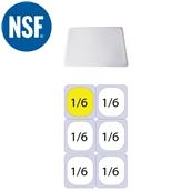 JW-P16SL Καπάκι Σφραγίσματοs Polycarbonate GN1/6 (17.6x16.2cm)
