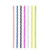 SS502011X 1000 Καλαμάκια EXTREME, Ίσια, JUMBO, Φ7x240 mm, Διάφορα Χρώματα