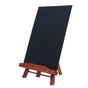 JUN-M-A4 Επιτραπέζος Πίνακας 22 x 36 cm, μαύρος με βάση σε χρώμα ερυθρόξυλο SECURIT