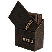 MC-BOX-DRA4-PAISLEY Θήκη-κουτί με 10 Καταλόγους MENU A4 PAISLEY 24x34cm, SECURIT