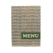 MC-DRA4-REPTILE Κατάλογος MENU A4 REPTILE για Εστιατόρια / cafe 24x34cm,σχέδιο ερπετού SECURIT