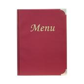 MC-BRA4-WR Κατάλογος MENU BASIC A4 για Εστιατόρια / cafe 24x34cm, κόκκινος, SECURIT