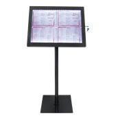 MCS-4A4-BL-SET Σταντ πληροφοριών για 4 x Α4 με φωτισμό LED, 144 x 50 cm, SECURIT