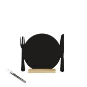 FBT-PLATE Επιτραπέζιο Πινακάκι με Χαρακτηριστικό Σχήμα,σειρά SILHOUETTE SECURIT
