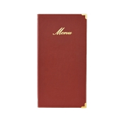 MC-CR45-WR Κατάλογος MENU A4/5 CLASSIC για Εστιατόρια / cafe 18x36cm,κόκκινος, SECURIT