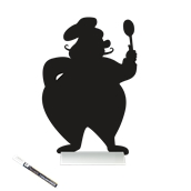 FBTA-CHEF Επιτραπέζιο Πινακάκι με Χαρακτηριστικό Σχήμα,σειρά SILHOUETTE SECURIT