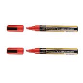 BL-SMA510-RD ΣΕΤ 2 Μαρκαδόροι υγρής κιμωλίας με μεσσαία μύτη, σε χρώμα κόκκινο, SECURIT