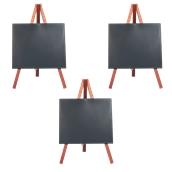 MNI-M-KR Σετ 3 Επιτραπέζιες Σήμανσεις-Πίνακες 11x 24 cm, ερυθρόξυλο, SECURIT