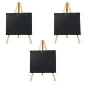 MNI-B-KR Σετ 3 Επιτραπέζιες Σήμανσεις-Πίνακες 11x 24 cm, ανοιχτό ξύλου, SECURIT