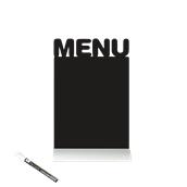 FBTA-MENU Επιτραπέζιο Πινακάκι με Χαρακτηριστικό Σχήμα,σειρά SILHOUETTE SECURIT