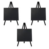 MNI-BL-KR Σετ 3 Επιτραπέζιες Σήμανσεις-Πίνακες 11x 24 cm, μαύρο, SECURIT