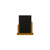 ELE-TE-ME Επιτραπέζια Σήμανση-Πίνακας 6 x 20 x 23cm (A5), χρώμα teak, SECURIT