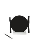 FBTA-PLATE Επιτραπέζιο Πινακάκι με Χαρακτηριστικό Σχήμα,σειρά SILHOUETTE SECURIT