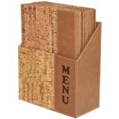 MC-BOX-DRA4-CORK Θήκη-κουτί με 10 Καταλόγους MENU A4 CORK 24x34cm, σχέδιο φελλού, SECURIT