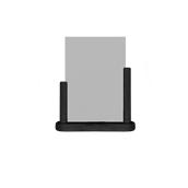 PFT-BL-LA Επιτραπέζια θήκη A4 φυλλαδίων, 7 x 27 x 32 cm, μαύρη, SECURIT