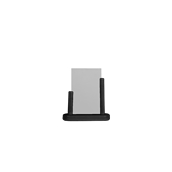 PFT-BL-SM Επιτραπέζια θήκη A6 φυλλαδίων, 5 x 15 x 17 cm, μαύρη, SECURIT