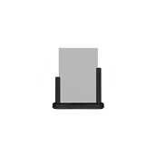 PFT-BL-ME Επιτραπέζια θήκη A5 φυλλαδίων, 6 x 20 x 23 cm, μαύρη, SECURIT