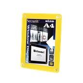 PFW-A4-YE Κορνίζα Α4 φυλλαδίων διάφανη, για Βιτρίνες, κίτρινη, SECURIT